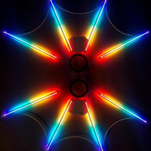пиксельный веер 4x, pixel fan 4x